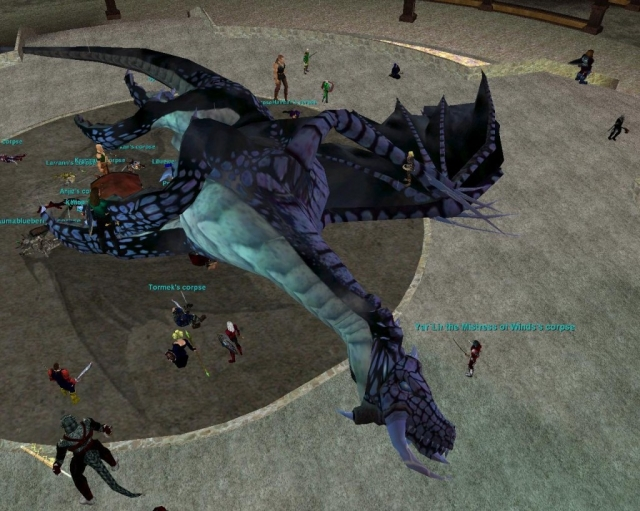 Occupy Norrath protest shortly after the collapse of the Dragon Points Economy