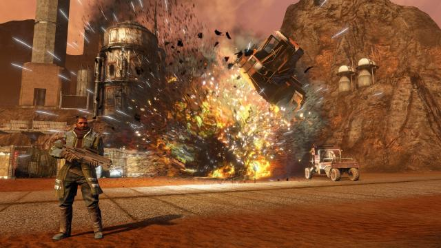 Red Faction Guerrilla Re-Mars-tered explosion