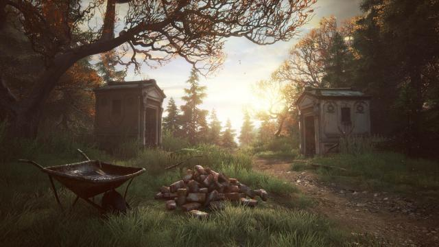 The Vanishing of Ethan Carter grave