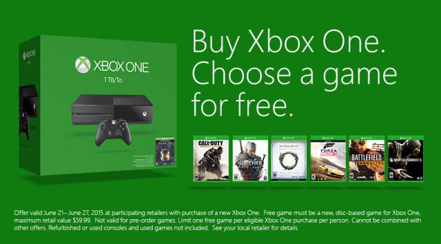Xbox One promotion