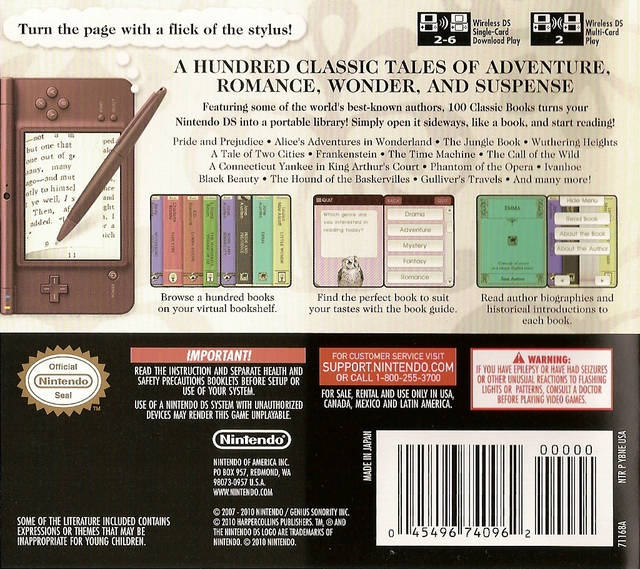 100 Classic Book Collection for Nintendo DS - Sales, Wiki, Release