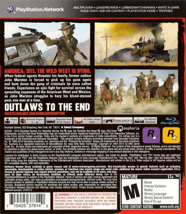 Red Dead Redemption for PlayStation 3 - Cheats, Codes, Guide