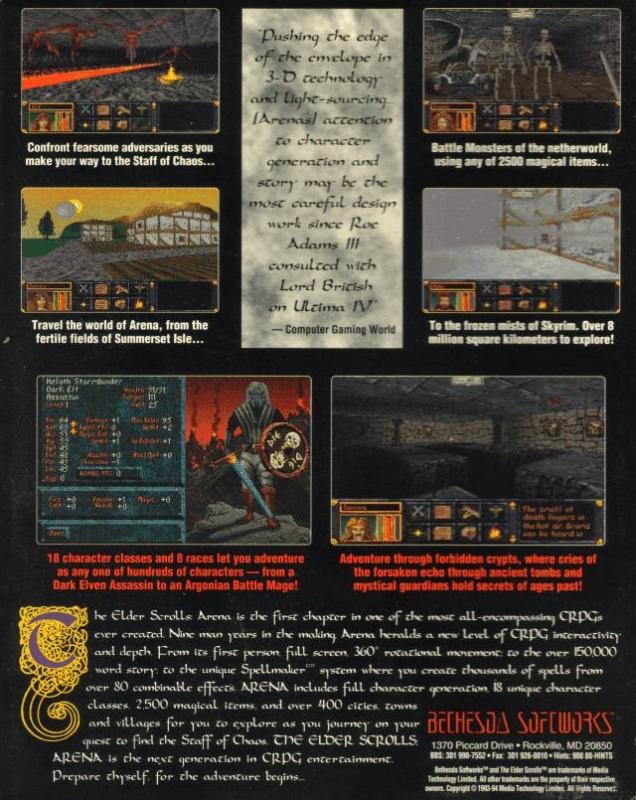 The Elder Scrolls: Arena for Microsoft Windows - Sales, Wiki