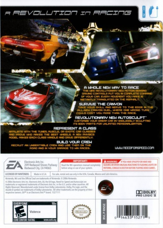 Need For Speed Carbon For Wii Sales Wiki Release Dates
