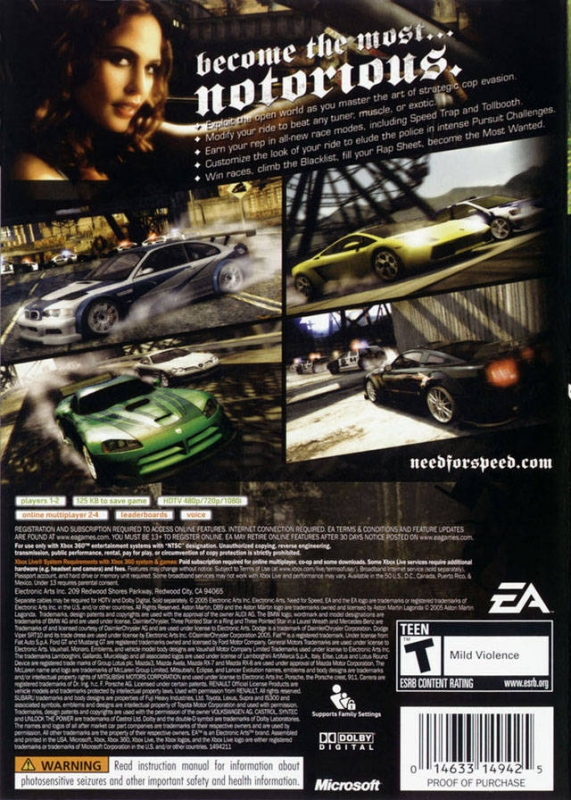 Need For Speed Most Wanted For Xbox 360 Sales Wiki Release