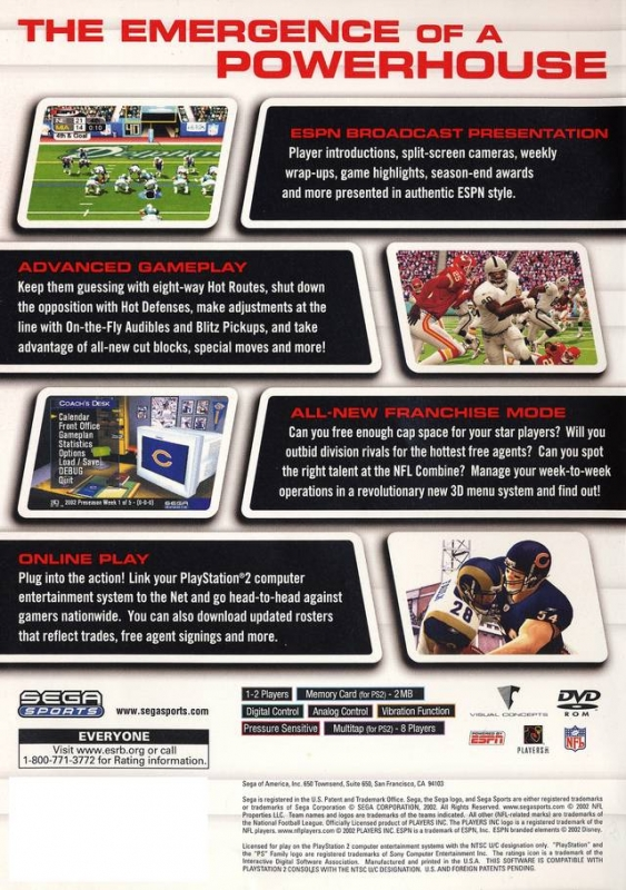 NFL 2K3 for PlayStation 2 - Sales, Wiki, Release Dates, Review