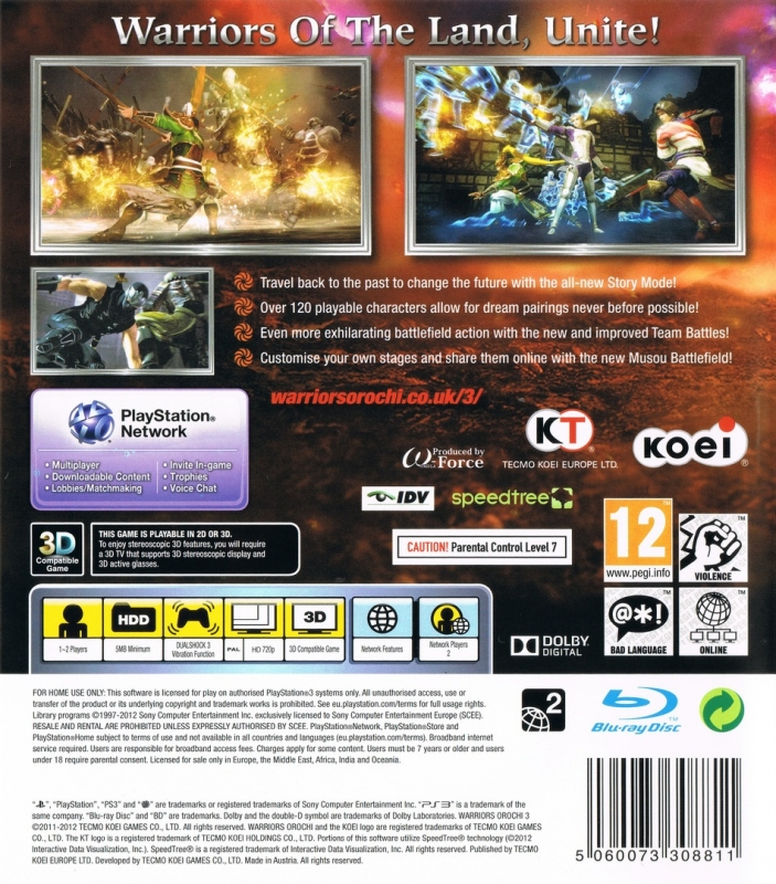 Warriors Orochi 3 Ultimate Cheats: Warriors Orochi 3 For PlayStation 3