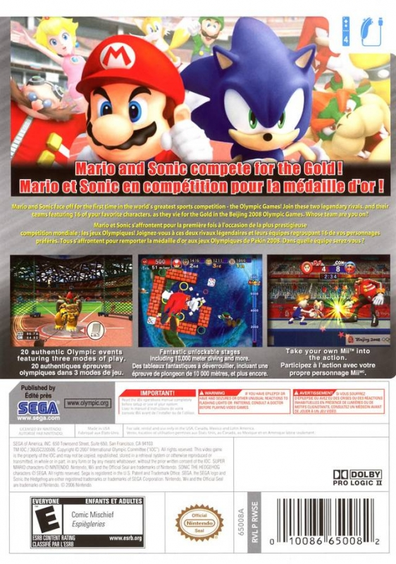 Mario & Sonic at the Olympic Games for Wii - Cheats, Codes