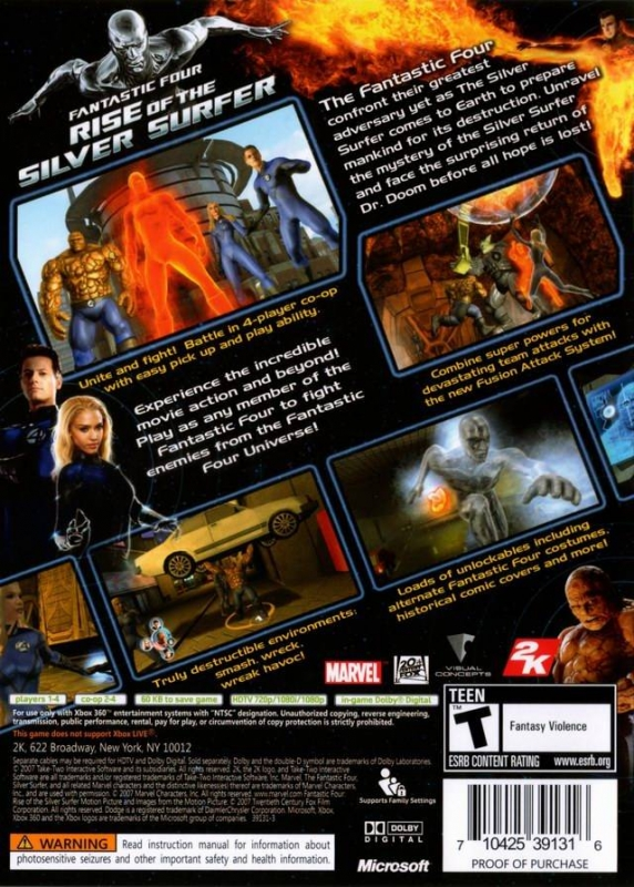 Fantastic Four: Rise of the Silver Surfer for Xbox 360 - Sales, Wiki