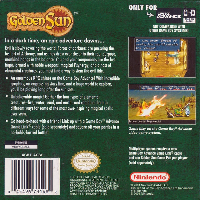 Golden Sun for Game Boy Advance - Sales, Wiki, Release Dates, Review