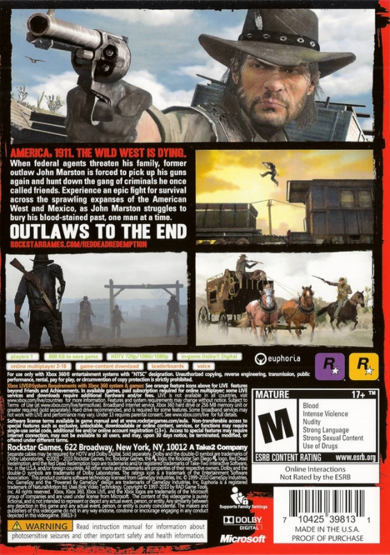 Red Dead Redemption for Xbox 360 - Cheats, Codes, Guide