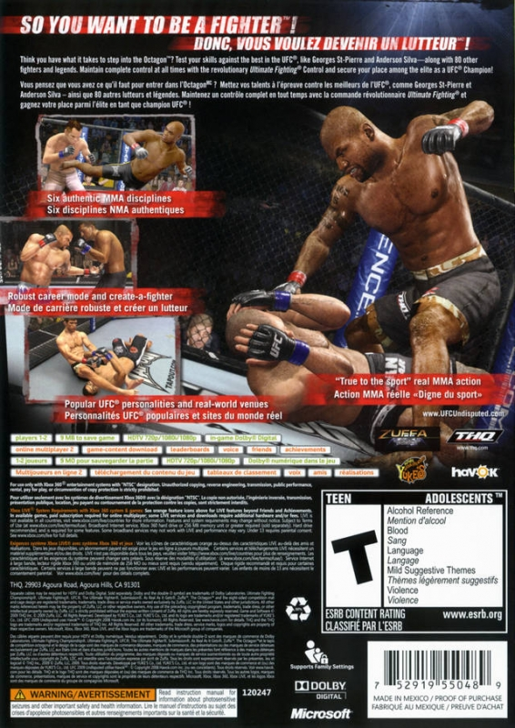 UFC 2009 Undisputed for Xbox 360 - Sales, Wiki, Release ... Ufc Undisputed 3 Ps3 Cheats