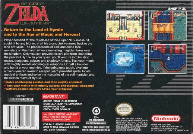 The Legend of Zelda: Link To The Past for Super Nintendo