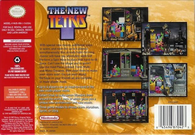 New Tetris for Nintendo 64 - Sales, Wiki, Release Dates