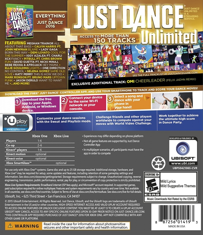 Just Dance 2016 for Xbox One - Sales, Wiki, Release Dates