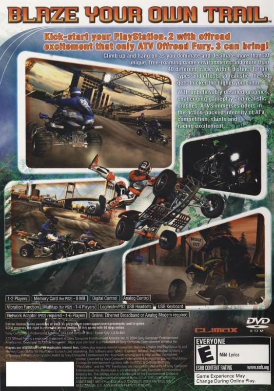 ATV Offroad Fury® 4 Game | PS2 - PlayStation