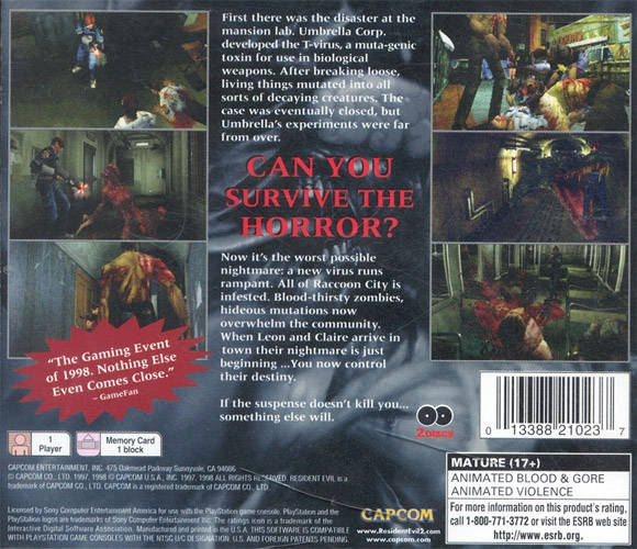 Resident Evil 2 For Playstation Sales Wiki Release Dates Review Cheats Walkthrough