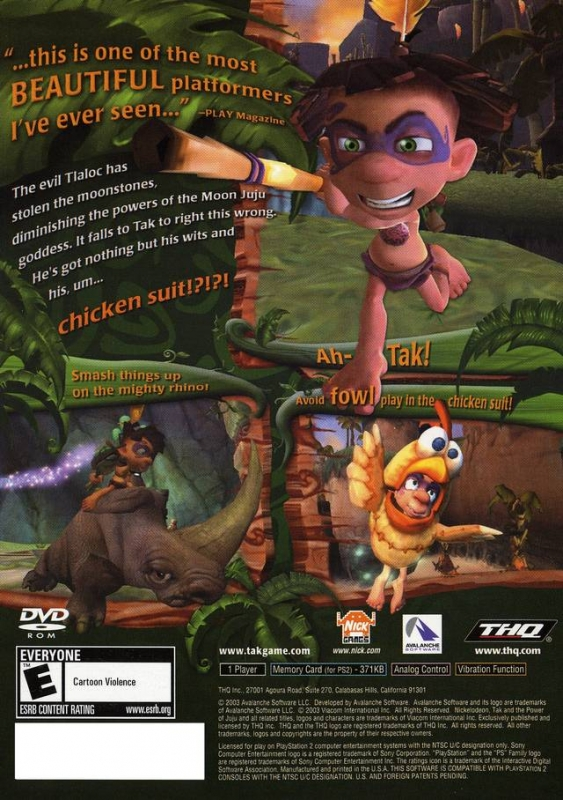 Tak and the Power of Juju for PlayStation 2 - Sales, Wiki