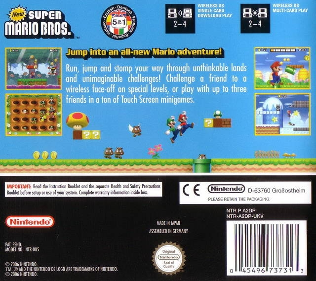 New Super Mario Bros for Nintendo DS - Sales, Wiki, Release