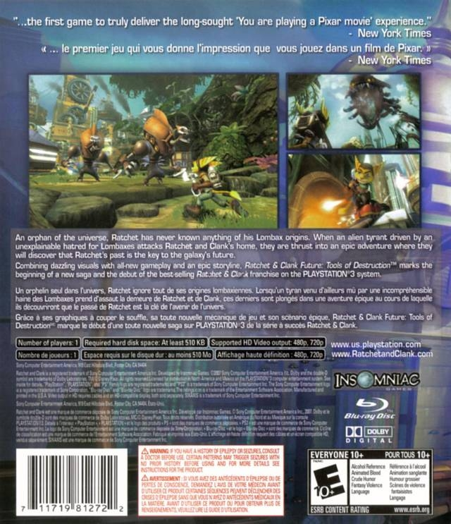 Ratchet Clank Future Tools Of Destruction For Playstation 3
