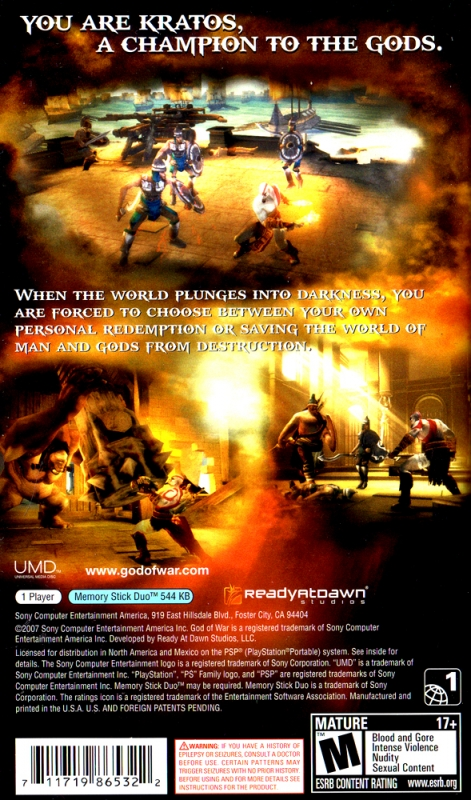 God of War: Chains of Olympus for PlayStation Portable - Sales, Wiki