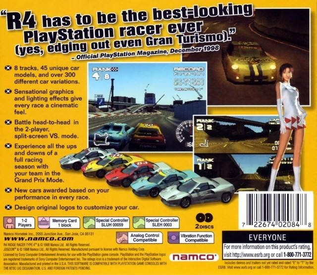 R4: Ridge Racer Type 4 for PlayStation - Sales, Wiki