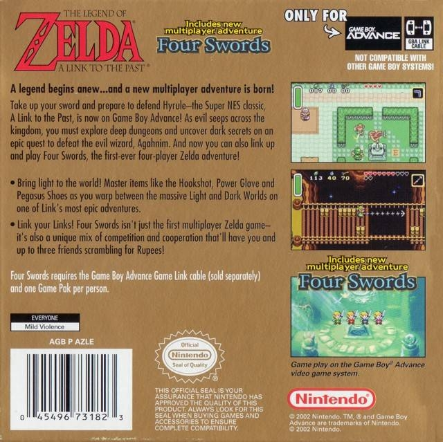 The Legend of Zelda: Link To The Past / Four Swords for Game