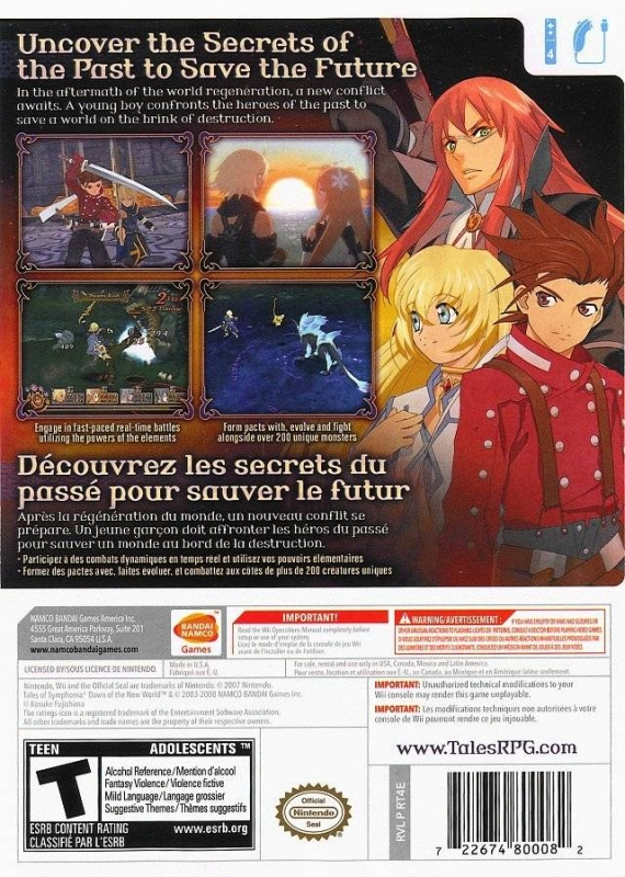 Tales Of Symphonia Dawn Of The New World For Wii Sales Wiki