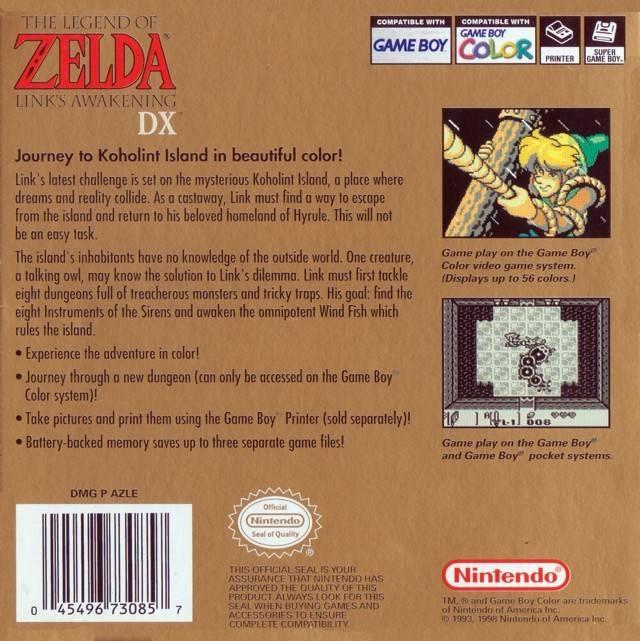 The Legend Of Zelda Links Awakening Dx For Game Boy Color