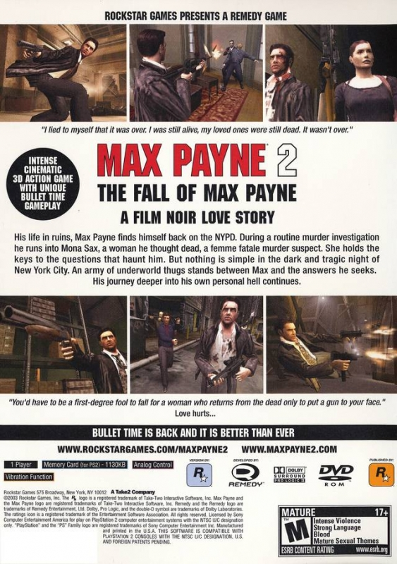 Max Payne 2 The Fall Of Max Payne For Playstation 2 Sales Wiki