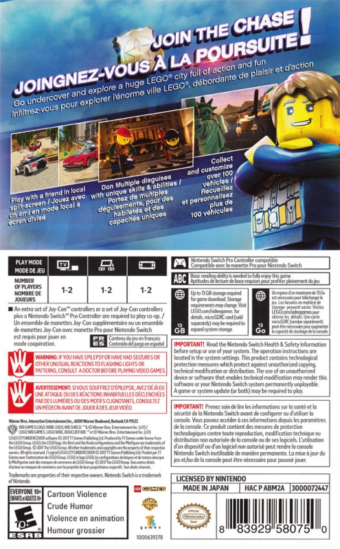 Lego City Undercover For Nintendo Switch Cheats Codes Guide Walkthrough Tips Tricks