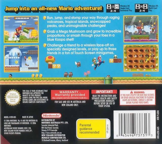 New Super Mario Bros for Nintendo DS - Cheats, Codes, Guide