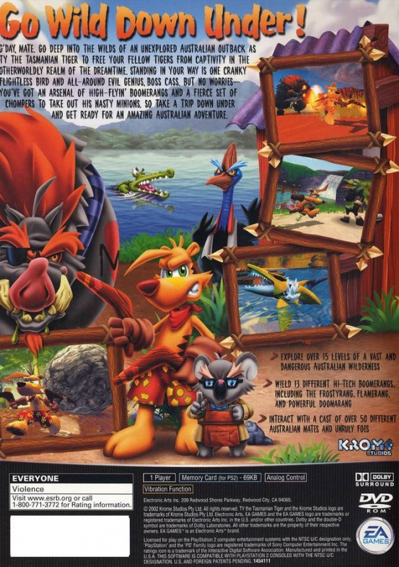 Ty Tasmanian Tiger for PlayStation 2 - Sales, Wiki, Release Dates