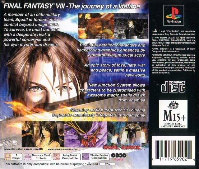 Final Fantasy VIII for PlayStation - Sales, Wiki, Release Dates