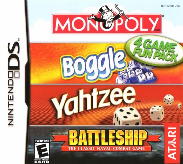 4 Game Fun Pack: Monopoly / Boggle / Yahtzee / Battleship Wiki - Gamewise
