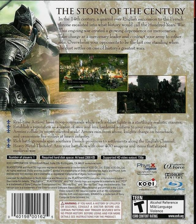 Bladestorm: The Hundred Years War for PlayStation 3 - Sales
