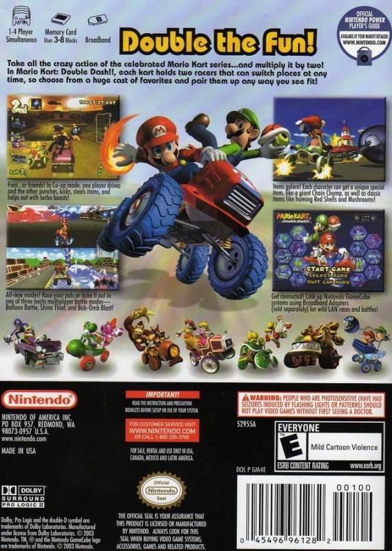 Mario Kart Double Dash For Gamecube Sales Wiki Release Dates Review Cheats Walkthrough