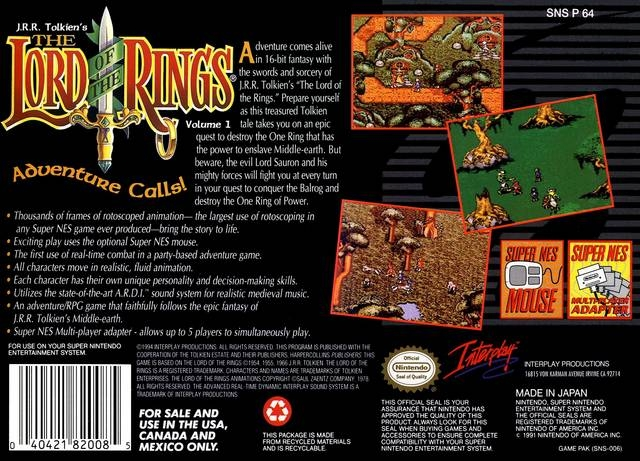 lord of the rings snes review