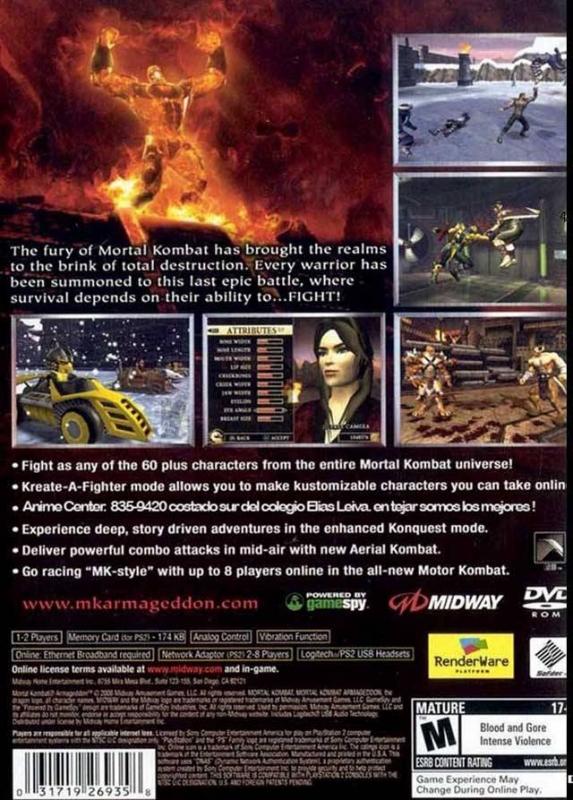 Mortal Kombat: Armageddon for PlayStation 2 - Sales, Wiki