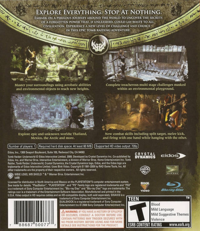 Tomb Raider Underworld For Playstation 3 Sales Wiki Release