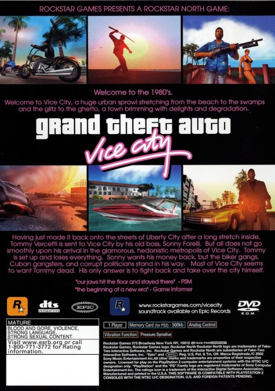 Grand Theft Auto: Vice City for PlayStation 2 - Sales, Wiki