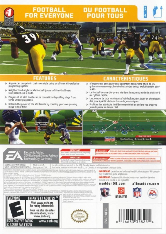 Madden NFL 09 All-Play for Wii - Sales, Wiki, Release Dates, Review