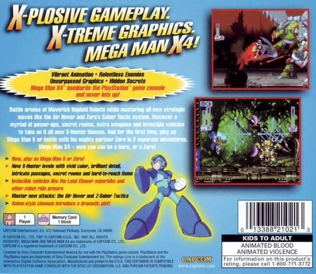 Mega Man X4 for PlayStation - Sales, Wiki, Release Dates