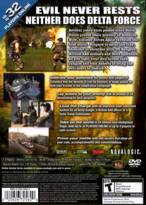 Delta Force: Black Hawk Down Team Sabre for PlayStation 2 - Sales