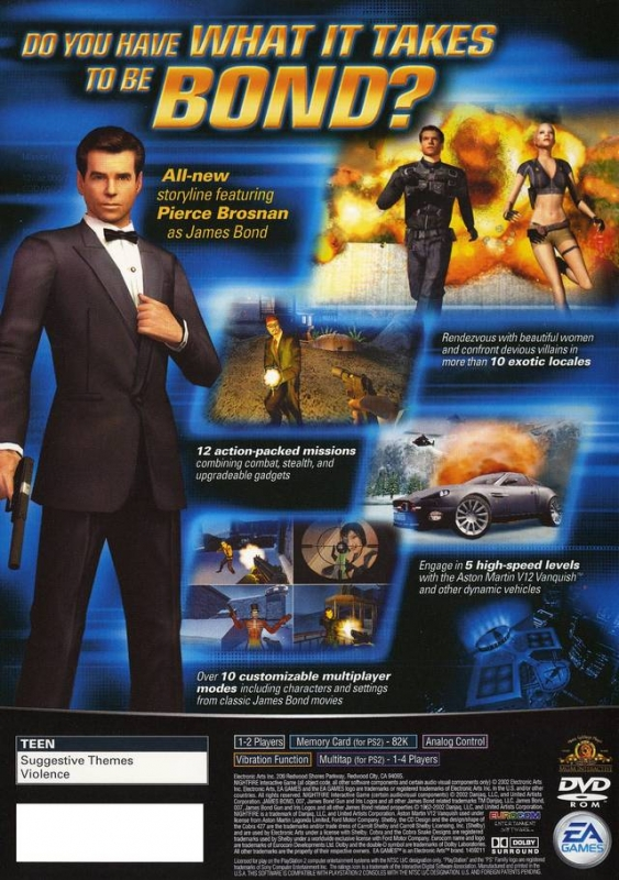 James Bond 007 Nightfire For Playstation 2 Sales Wiki Release Dates Review Cheats Walkthrough