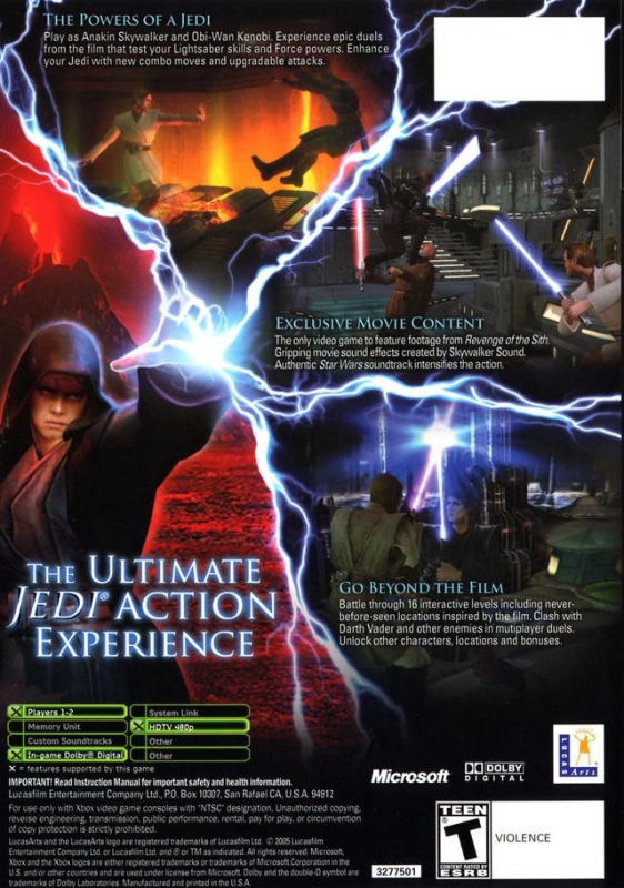 Star Wars Episode Iii Revenge Of The Sith For Xbox Sales Wiki Release Dates Review Cheats Walkthrough