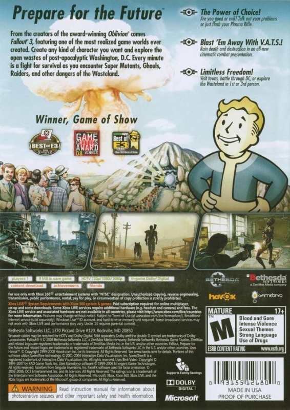 <b>Fallout 3</b> for <b>Xbox 360</b> - <b>Cheats</b>, <b>Codes</b>, Guide, Walkthrough, Tips ...