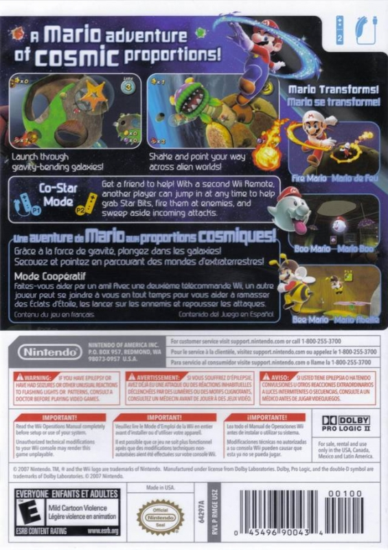 Super Mario Galaxy for Wii - Sales, Wiki, Release Dates, Review