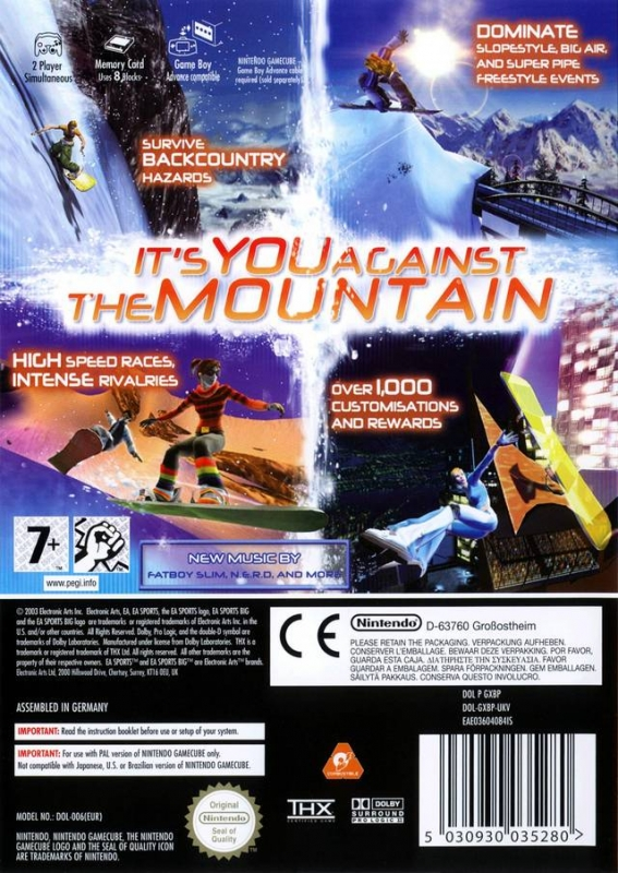 SSX 3 for GameCube - Sales, Wiki, Release Dates, Review