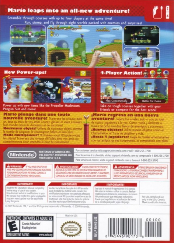 New Super Mario Bros  Wii for Wii - Cheats, Codes, Guide